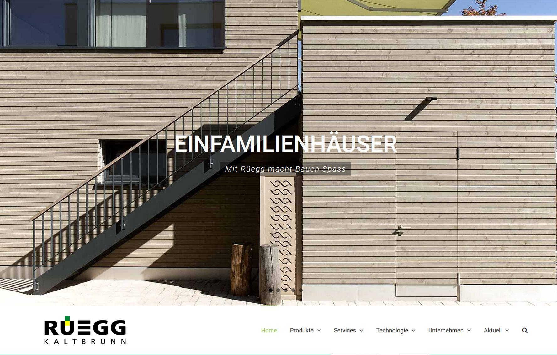 ruegg-kaltbrunn Holzbau Webseite